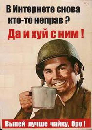 Агитплакат: Да и хуй с ним!