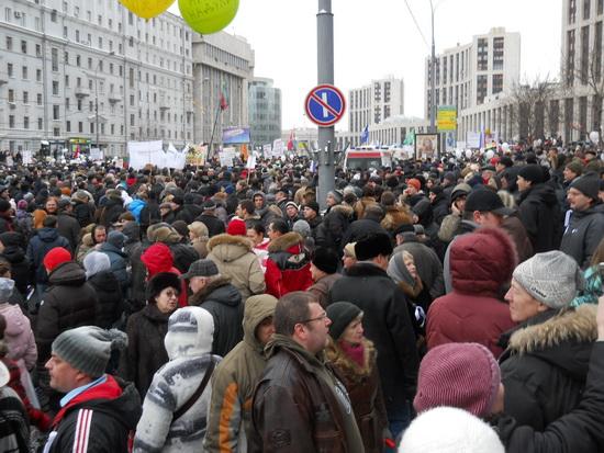 Митинг оппозиции на ак.Сахарова в Москве 24 декабря 2011г.